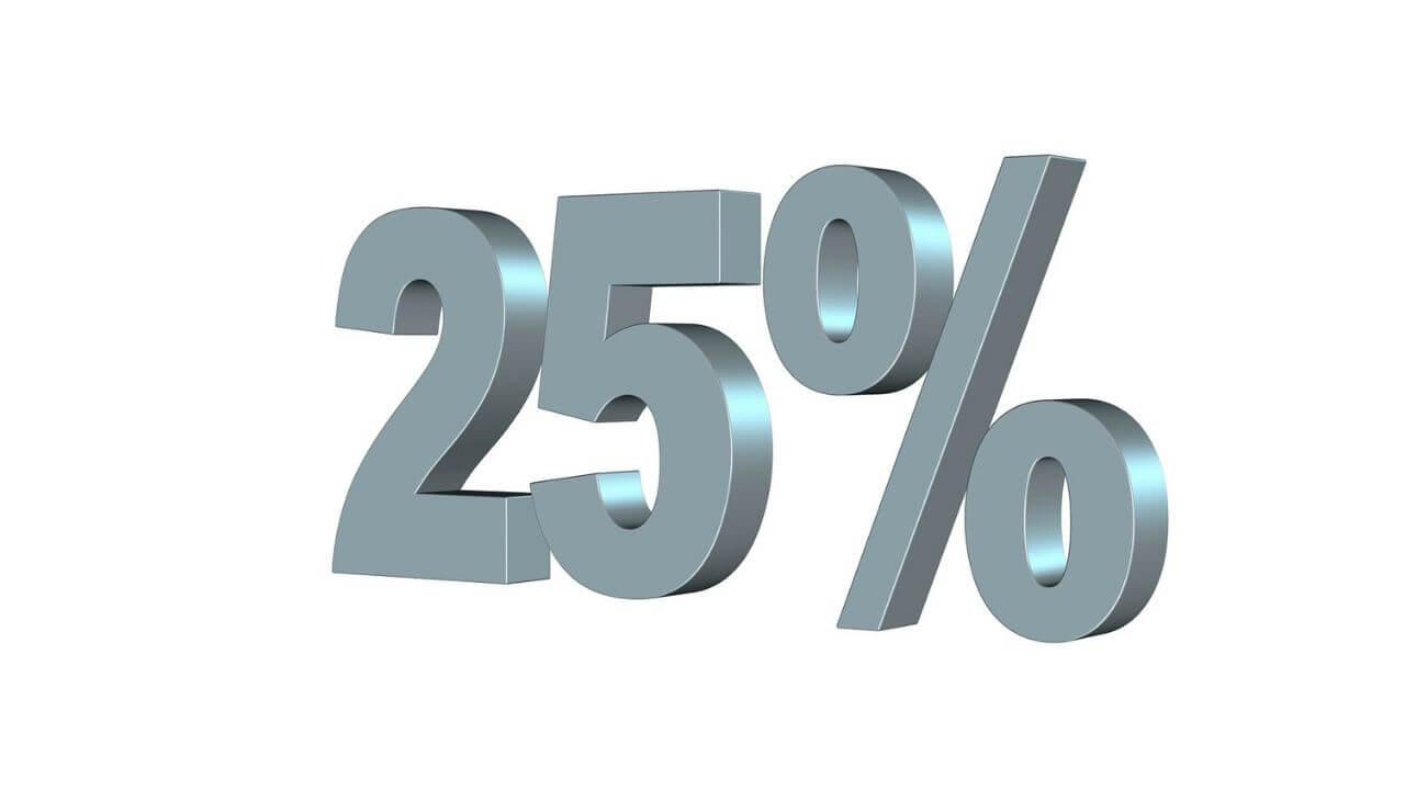 25パーセントのアイキャッチ