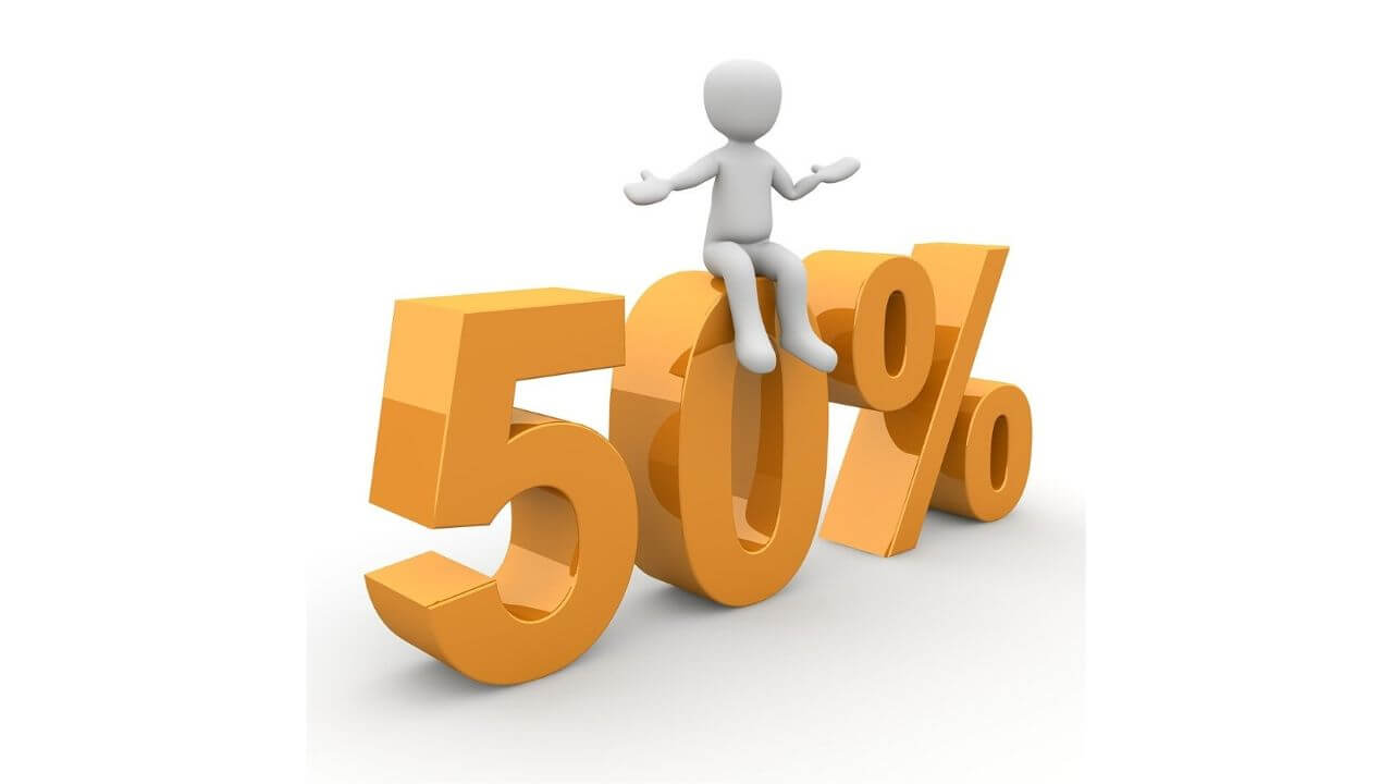 50パーセントのアイキャッチ