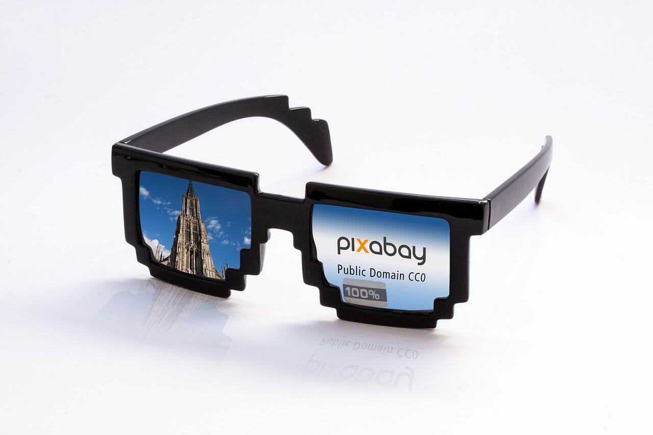 ピクセルの眼鏡