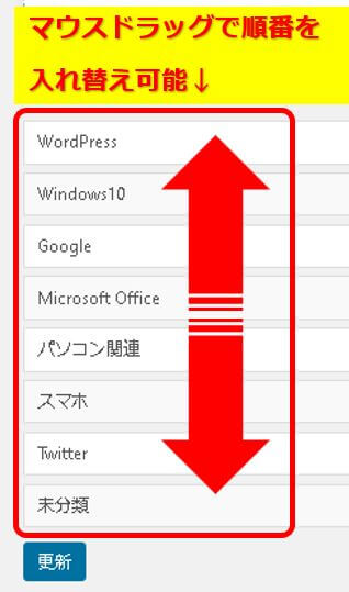 WordPress_Taxonomy Orderの設定