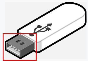 USBメモリの差し込み形状