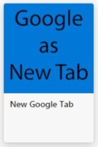 NEW Google Tabアイコン青
