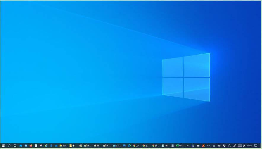 Windows10_デスクトップアイコンの非表示後