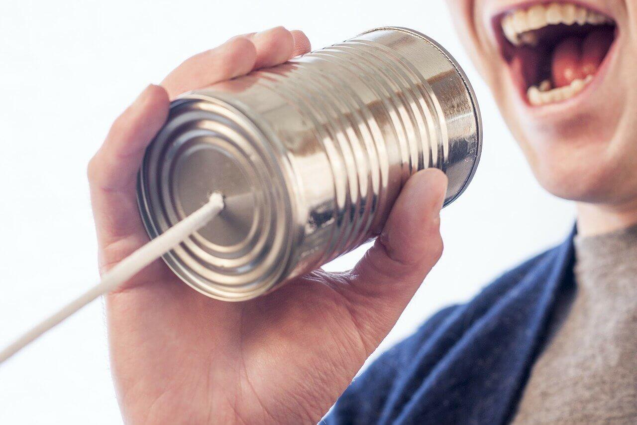 糸電話のイメージ画像