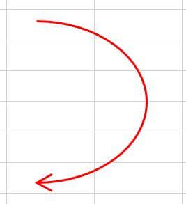Excel_線の編集_矢印サイズが大きくなった