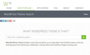 What WordPress Theme Is Thatのホームページ