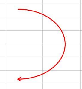 Excel_線の編集_終点側が矢印になった
