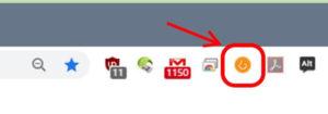 Chrome_WPSNIFFERのアイコンをクリック