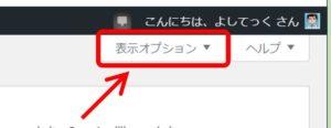 WP_表示オプションをクリック