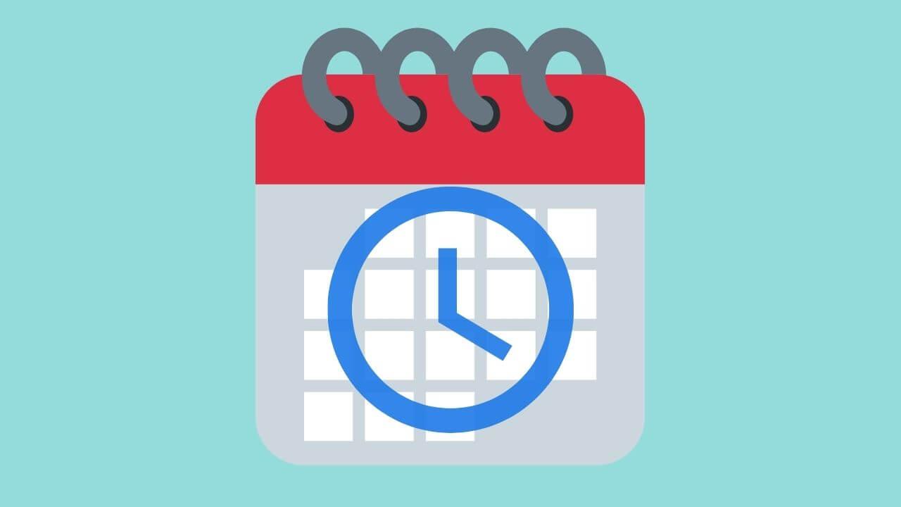 カレンダーと時間のイメージ画像