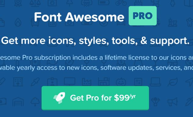 Font Awesome_proの料金