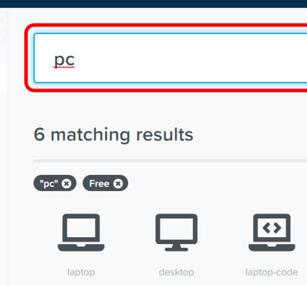 アイコンを検索