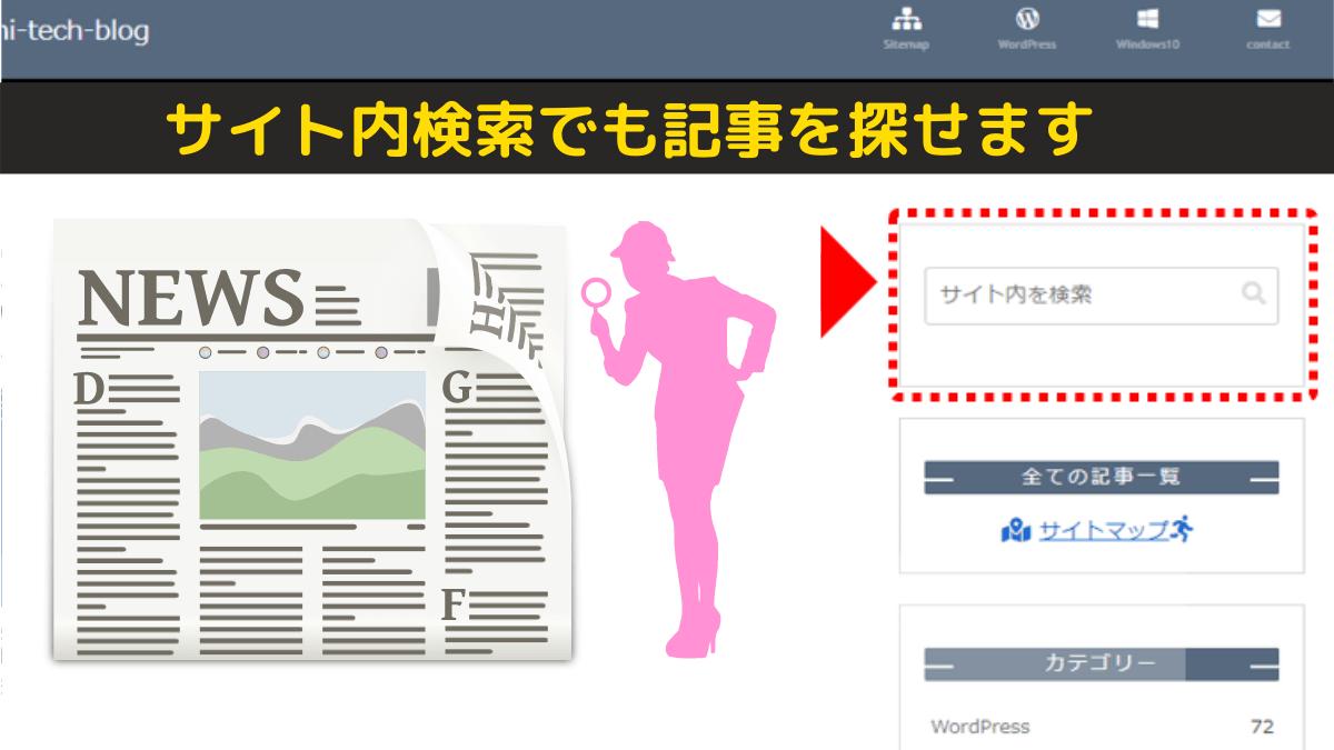 サイト内検索で記事を探す