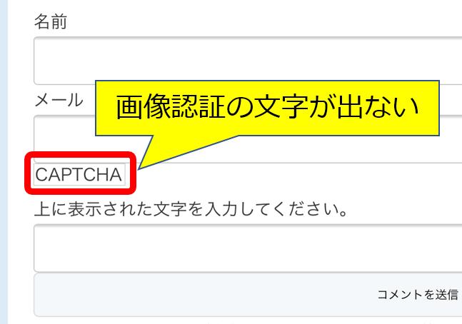 CHPTCHA表示しない