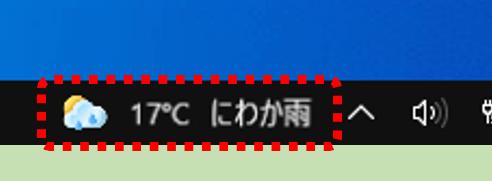 天気アイコンとテキスト